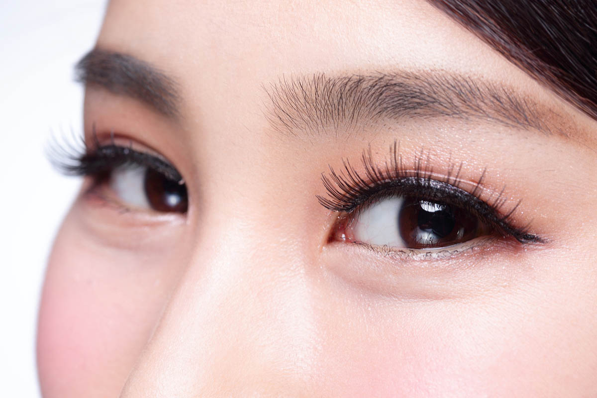 Beautiful woman eye with long eyelashes